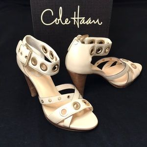 Cole Haan Air Whitney cream heel sandals size 6